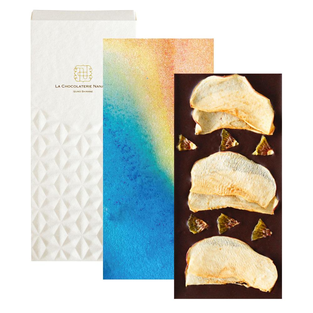 【季節のチョコレート】ドライアップル&キウイトッピングダークチョコレート