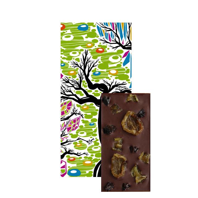 【季節のチョコレート】島根県大田市産デラウェア&翠峰ダークチョコレート(ミニサイズ)