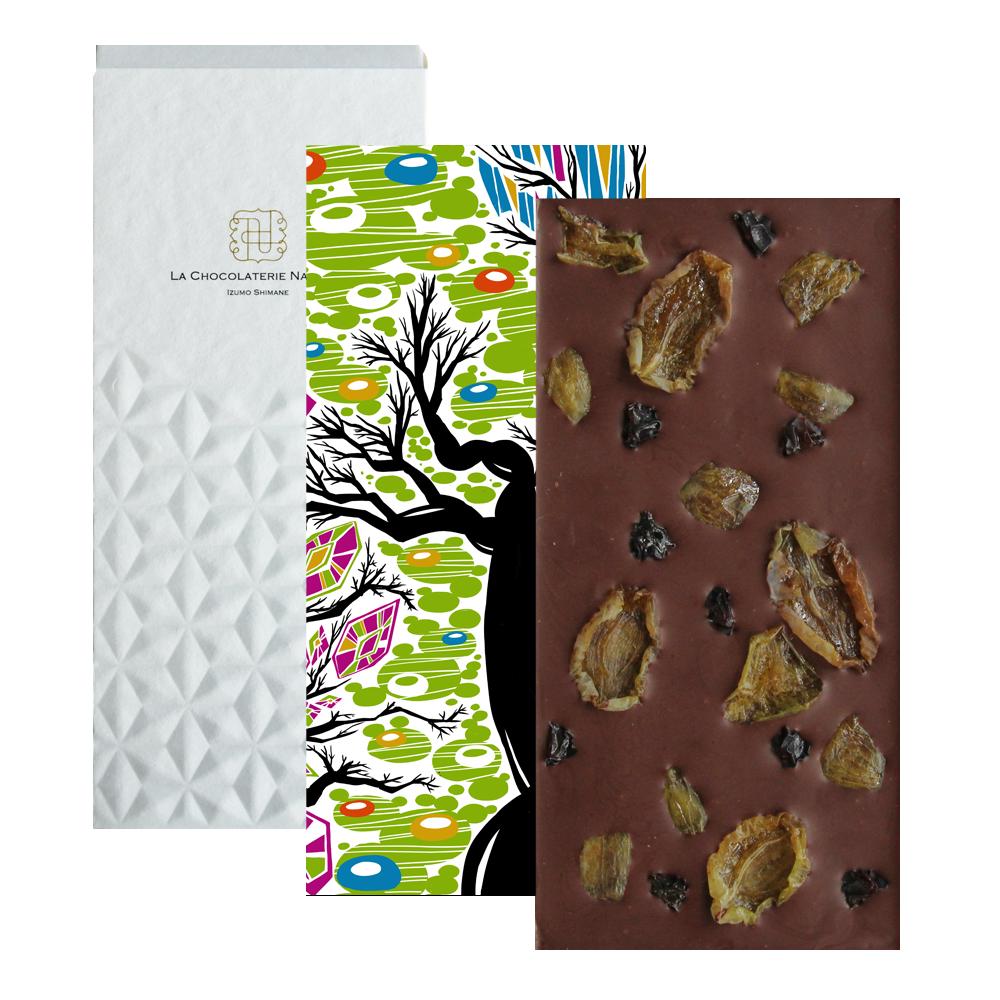 【季節のチョコレート】島根県大田市産デラウェア&翠峰ダークチョコレート