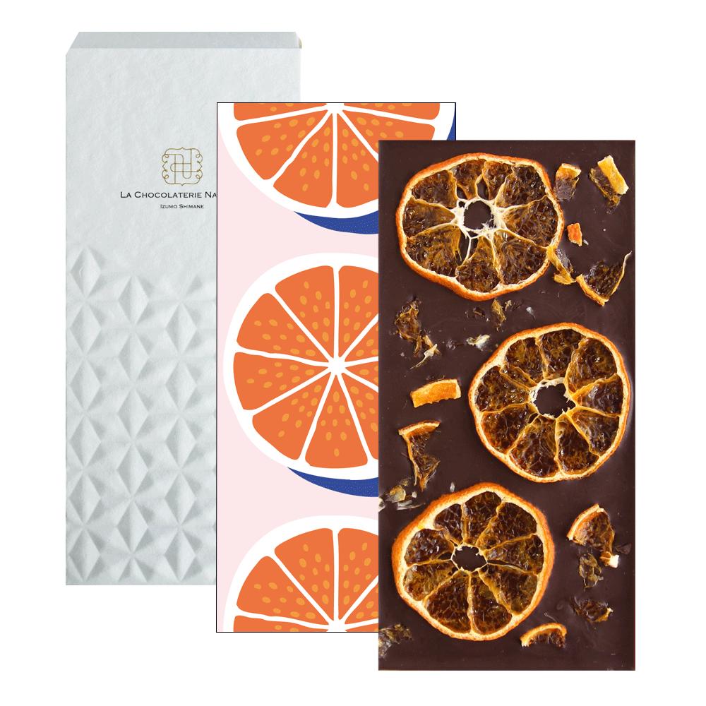 【Seasonal Tablet】島根県産みかんトッピングダークチョコレート